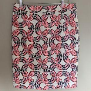 Boden Floral Pencil Skirt